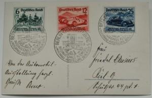 Karte mit drei Sondermarken von 1939